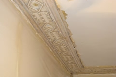 Cornice Being Cleaned