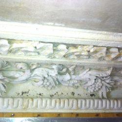 Damaged cornice
