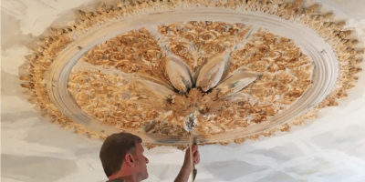 Cleaned Ceiling Rose