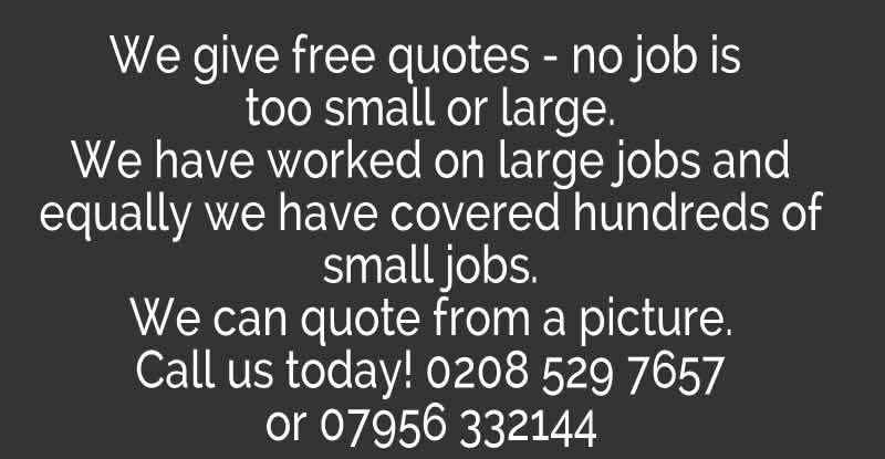 We give free quotes contact us now